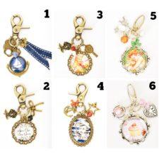 Bijoux de sac/Porte-clefs vintages