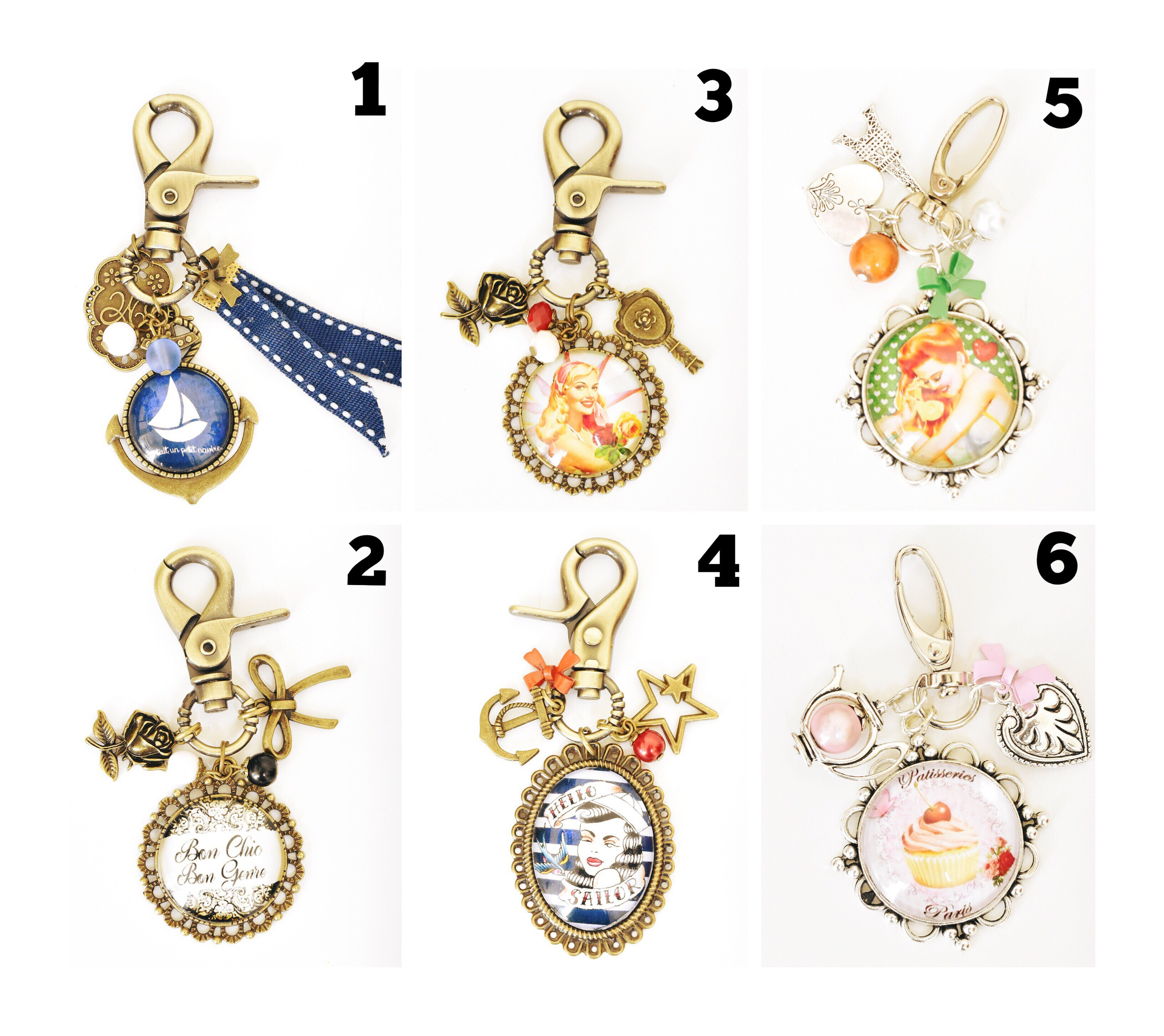 Bijoux de sac porte clefs vintages au rendez vous des for Collection de porte clefs