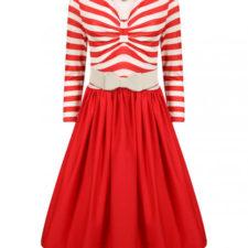 Robe vintage rouge et blanche