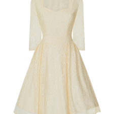 Robe vintage ivoire
