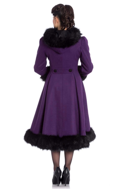 manteau r tro violet elvira au rendez vous des pin up. Black Bedroom Furniture Sets. Home Design Ideas