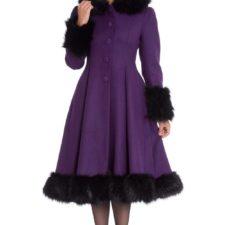 Manteau rétro violet