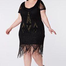 Robe noire Gatsby Annette