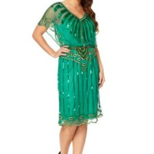 Robe Gatsby vert émeraude Angel