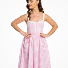 Robe pin-up vichy rose