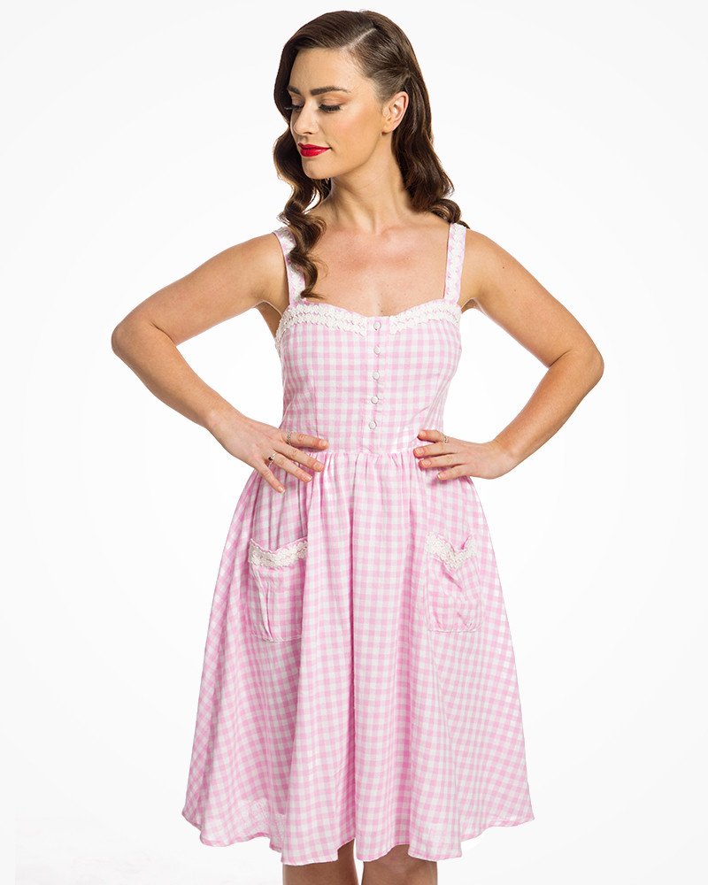 » Pin Rose « Des Rendez Robe Vichy Au Vous Up Corinna f6Yb7ygv