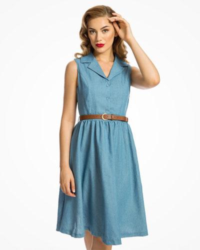 Robe vintage bleue denim